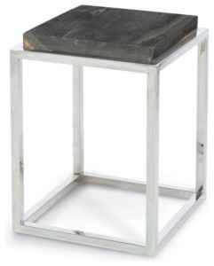 Custom design stainless steel and stone table